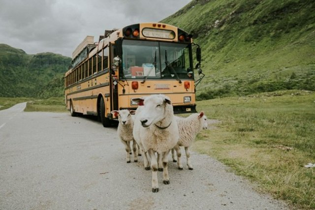 Dışı otobüs içi otel
