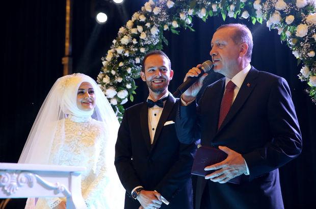 Cumhurbaşkanı Erdoğan nikâh şahidi oldu