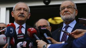Kılıçdaroğlu ve Karamollaoğlu'ndan 2019 seçimleri için açıklama