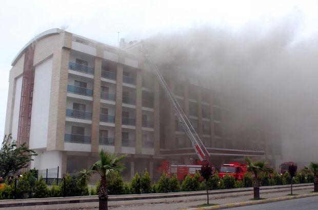 Ordu'da panik anları! 7 katlı otelde yangın çıktı
