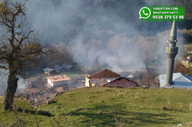 Çorum'da yangın çıkan köy için çalışmalar başladı