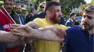ABD'nin başkenti Washington'da PKK yandaşlarından izinsiz gösteri