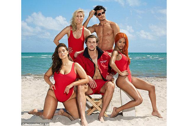 Dünyaca ünlü modeller, Sahil Güvenlik dizisinden ilham alan reklam kampanyasında buluştu
