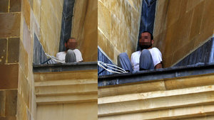 Antalya'da hırsız minarede mahsur kaldı