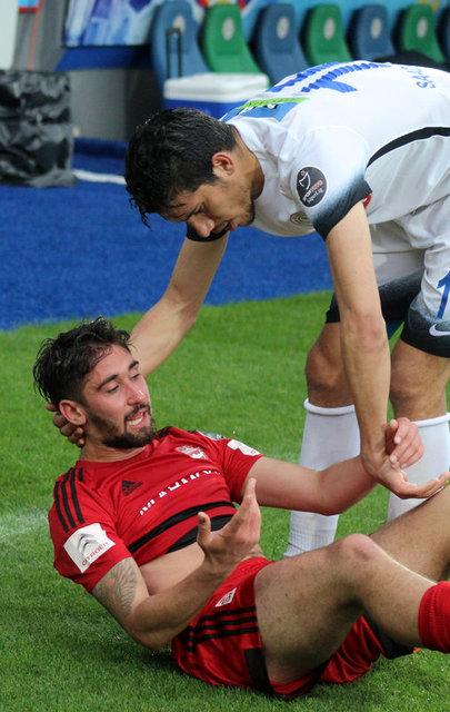 Gaziantepsporlu futbolcular gözyaşlarını tutamadı