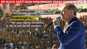Cumhurbaşkanı Erdoğan: Kim dönerse dönsün, biz dönmeyiz bu yoldan