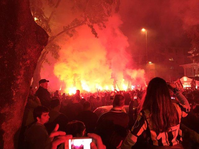 Fenerbahçe'nin kutlaması gecikmeli başladı