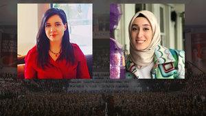 AK Parti MKYK'nın üniversiteli üyeleri Rumeysa Kadak ve Yasemin Atasever