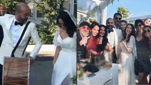 Ünlü çift evlendi! Halay başı Kenan İmirzalıoğlu oldu...