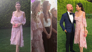 Sinem Kobal, Yasemin Özilhan'ın elbisesiyle