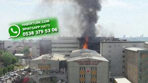Halkalı'da Mehmet Akif Ersoy Hastanesi'nde çıkan yangın kontrol altına alındı