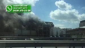 İkitelli Organize Sanayi Bölgesi'nde yangın