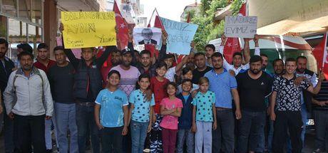 İzmir'de dolandırılan Romanlardan eylem
