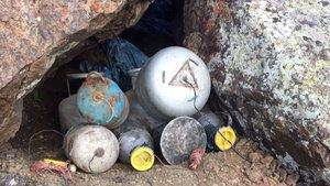 Van'da el yapımı patlayıcılar yakalandı