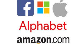 Facebook, Microsoft, Apple, Amazon ve Alphabet büyümeye devam ediyor