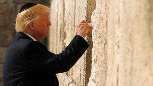 Trump, Ağlama Duvarı'nı ziyaret eden ilk ABD Başkanı oldu