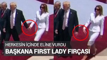 First Lady'den ilginç tepki
