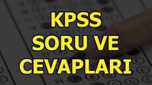 KPSS A Grubu ve Öğretmenlik sınavı soru ve cevapları yayımlandı
