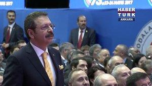 TOBB Başkanı Hisarcıklıoğlu'ndan Cumhurbaşkanı Erdoğan'a yerli otomobil sözü