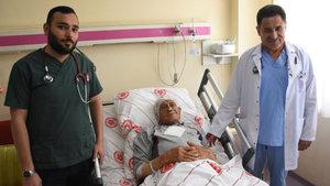 Sivas'ta yaşayan Hüseyin Aycan'ın aort damarı yırtıldı, vücudundaki kan karnına doldu!