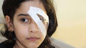 Trabzon'da gözüne kalem batan küçük kız kör oluyordu
