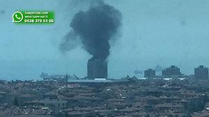 Ataköy'de şantiyede yangın