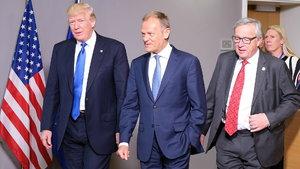 Trump, AB liderleri ile buluştu: Rusya konusunda aynı düşünmüyoruz