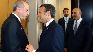 Erdoğan-Macron görüşmesine damga vuran konu!