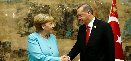 Cumhurbaşkanı Erdoğan, Merkel'le görüştü