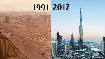 Ünlü şehirlerin eski ve şimdiki halleri