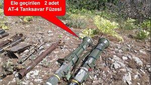 Şırnak'ta iki adet tanksavar füzesi ele geçirildi