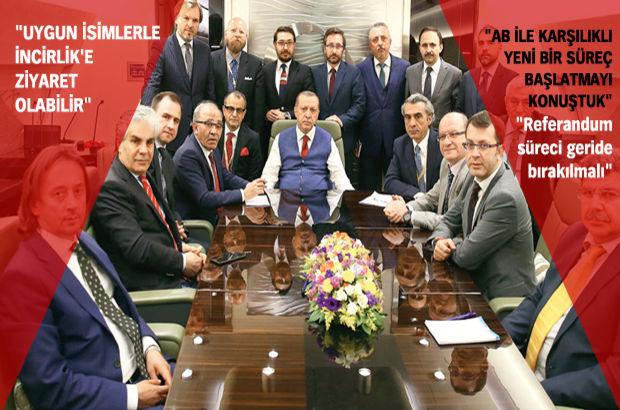 Erdoğan'dan AB açıklaması: 12 aylık takvim aldık