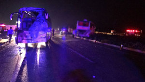 SON DAKİKA! Afyonkarahisar'da yolcu otobüsleri çarpıştı