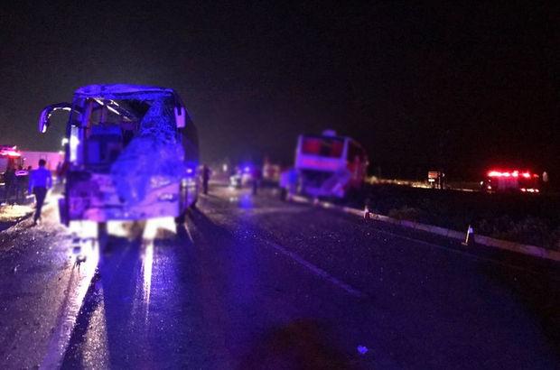 Afyon'da yolcu otobüsleri çarpıştı! 40 kişi yaralandı