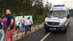 Muğla'da kazada yaralanan güvenlik görevlisi paraları bırakmadı