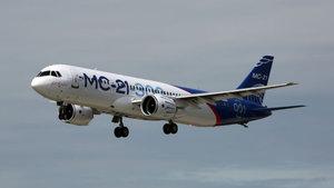 Rusya'nın Sovyetler Birliği sonrası ilk ticari uçağı deneme uçuşu yaptı