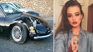 Elif Aksu, sevgilisiyle gittiği İbiza tatilinde trafik kazası yaptı