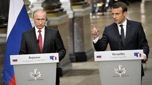 Macron, Putin'in yanında Rus medyasına yüklendi!