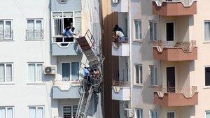 Mersin'de halat koptu, işçiler mahsur kaldı