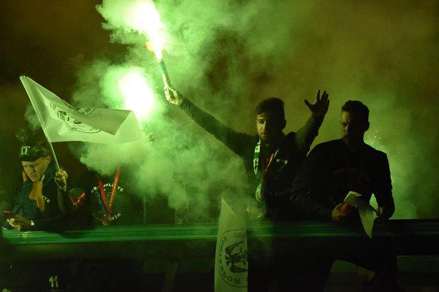 Konyaspor'a coşkulu karşılama