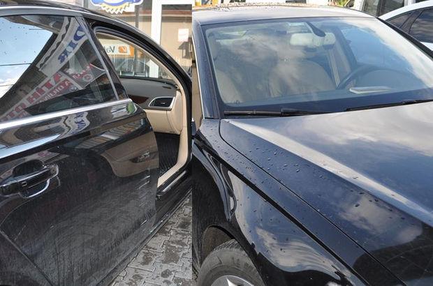 Aracını park edip bankaya girdi, çıktığında neye uğradığını şaşırdı!