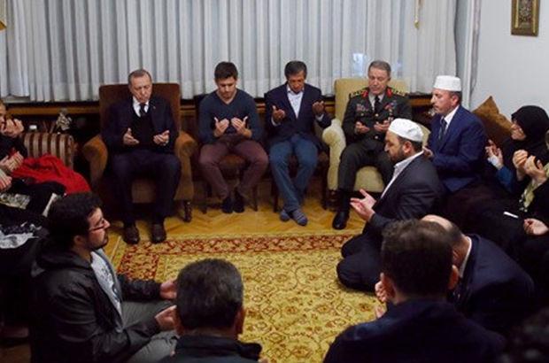 Erdoğan ve Akar'dan şehit Aydoğan Aydın'ın ailesine taziye ziyareti