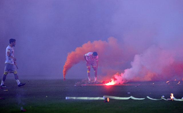 Eskişehirspor - Göztepe finalinde oyunun durduğu anlar!