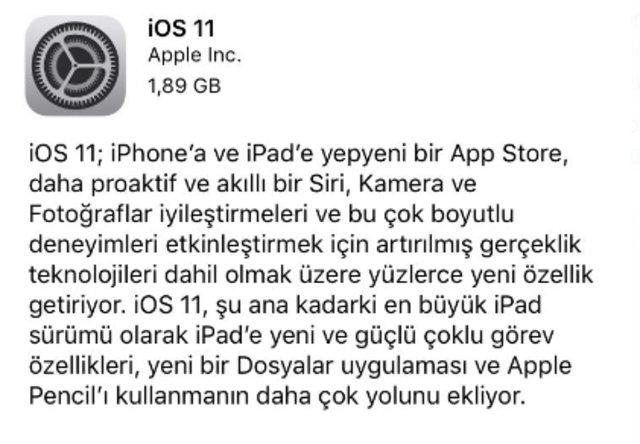 iPhone ve iPad'i yenileyen iOS 11'i kurmanın yolu