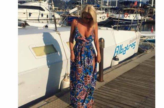 Rhian Sugden tatil için Türkiye'yi seçti