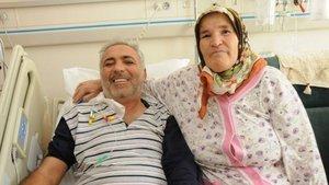 Manisa'da yaşayan Recep Çat, kayınvalidesinin böbreğiyle hayata döndü!