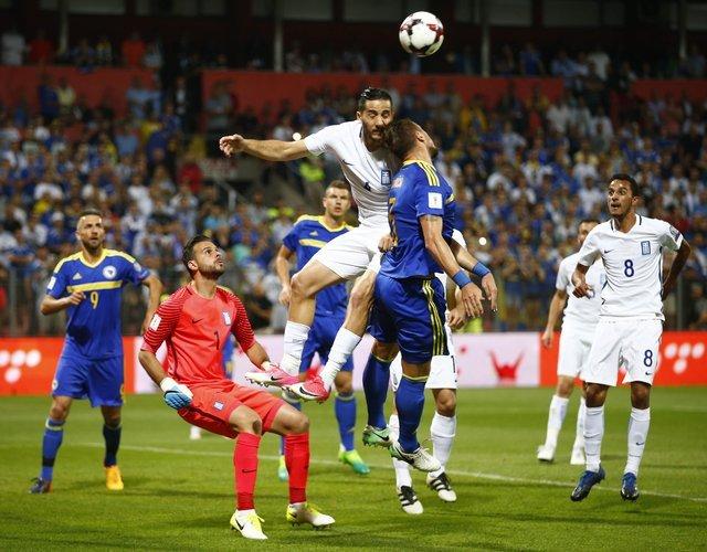 Bosna Hersek-Yunanistan maçında kavga çıktı!