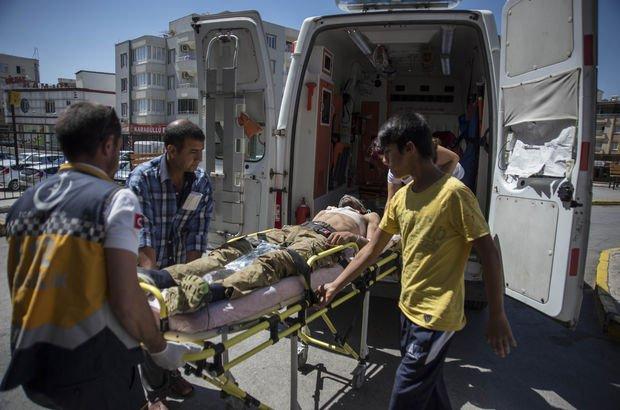 Terör örgütü PYD ile çatışmada yaralanan ÖSO'lu 7 yaralı Türkiye'ye getirildi