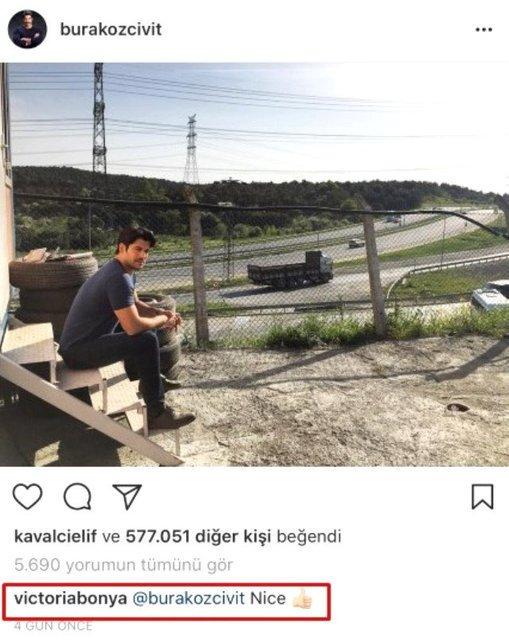 Victoria Bonya'dan Burak Özçivit'in fotoğrafına yorum!