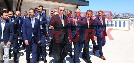 Cumhurbaşkanı Recep Tayyip Erdoğan mezunu olduğu okulun inşaatını inceledi